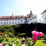 Caldey Abbey and gardens