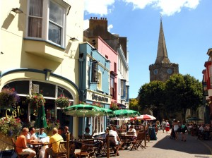 Cafe Culture in High Street Tenby